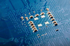 Microelectronic technology in computer industry Royalty Free Stock Photo