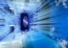 Microelectronics. Background can use the Internet, print advertising and design Stock Images
