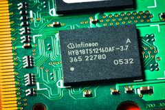 Microelectronics board for PC Stock Image