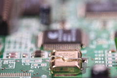 Microelectronics computer chip Stock Images