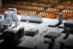 Microelectronicsbakgrundschiper Arkivbild