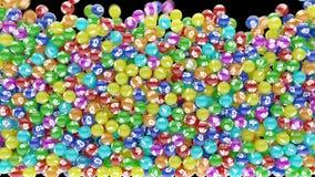 Microelementos coloridos que caen abajo y dispersión libre illustration