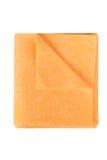 Microfiber在白色背景的清洁毛巾 库存照片