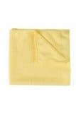 Microfiber在白色背景的清洁毛巾 库存图片
