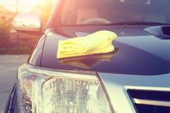 Microfiber car shine Royalty Free Stock Photography