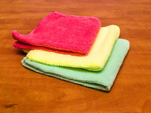 Microfiber cleaning cloths Stock Photos