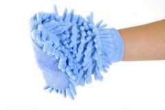 Microfiber cloth gloves Stock Images