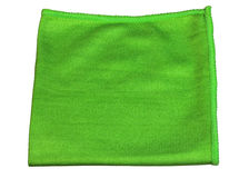 Microfiber cloth  green Royalty Free Stock Image