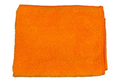 Microfiber cloth  orange, Royalty Free Stock Image