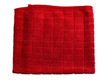 Microfiber cloth  red Stock Images