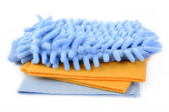 Microfiber cloth on white background Royalty Free Stock Image