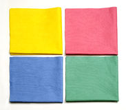 Microfiber cloths cleaning royalty free stock images