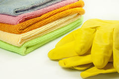 Microfiber cloths Stock Photos
