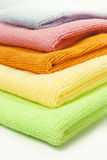 Microfiber cloths Stock Photo