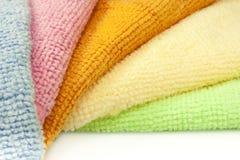 Microfiber cloths Stock Photos