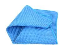 Microfiber Dish Cloth. A waffle weave microfiber blue dish cloth Stock Photo