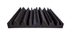 Microfiber foam insulation for noise in music studio or acoustic royalty free stock photo