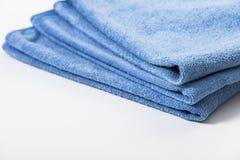 Microfiber handduk för bilwipe Arkivbilder