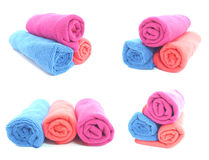 Microfiber napkins of different colors Royalty Free Stock Photography