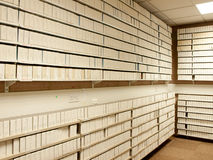 Microfilm archives interior Royalty Free Stock Photography