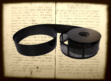 Microfilm del libro fotos de archivo