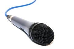 Microfon con el cable Imagen de archivo libre de regalías