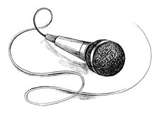 Microfone Foto de Stock Royalty Free