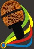 Microfone abstrato Fotos de Stock Royalty Free