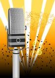 Microfone antigo do grunge Imagem de Stock