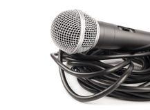 Microfone com cabo encaracolado Imagens de Stock