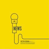 Microfone com um fio ilustração do vetor