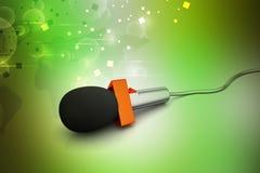 Microfone, conceito de uma comunicação Imagem de Stock Royalty Free