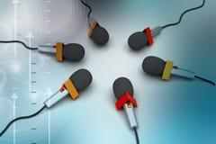 Microfone, conceito de uma comunicação Foto de Stock Royalty Free