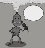 Microfone da conversa do robô Imagens de Stock Royalty Free