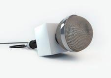 Microfone da notícia Foto de Stock Royalty Free
