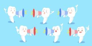 Microfone da tomada do dente dos desenhos animados Fotos de Stock