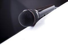 Microfone de B&W Foto de Stock Royalty Free