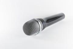 Microfone de Isoltaed no fundo branco Foto de Stock