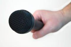 Microfone de mão Fotos de Stock