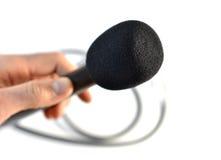 Microfone de mão Foto de Stock Royalty Free