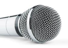 Microfone de prata foto de stock