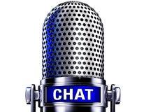Microfone do bate-papo Foto de Stock Royalty Free