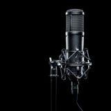 Microfone do estúdio Foto de Stock Royalty Free