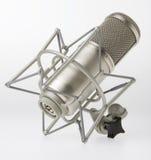 Microfone do estúdio foto de stock