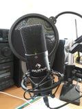 Microfone do estúdio de Auna imagens de stock