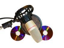 Microfone do estúdio de gravação com filtro sadio imagens de stock royalty free