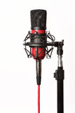Microfone do estúdio no branco Foto de Stock Royalty Free