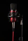 Microfone do estúdio no shockmount Foto de Stock Royalty Free
