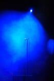 Microfone do fumo do estágio Imagens de Stock