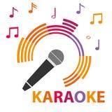 Microfone do karaoke Foto de Stock